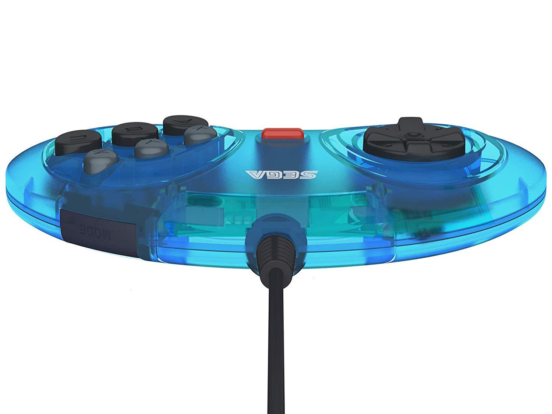 SEGA Mega Drive Controller 6-Button Arcade Pad - Clear ...