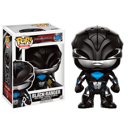 Funko POP! Movies: Power Rangers - Black Ranger Vinyl Figure 10cm
