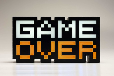 Game Over 8-Bit LED-Lampe