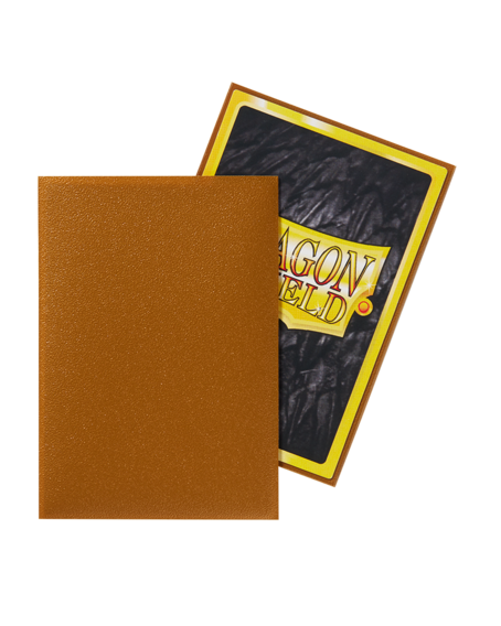 Matte Gold: Dragon Shield Small Sleeves (60 Stk)