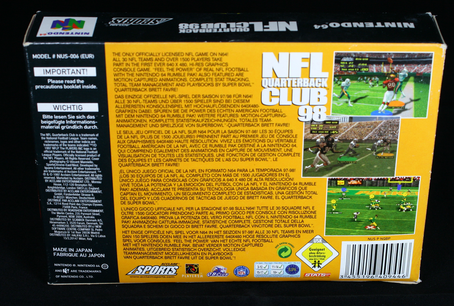 NFL Quarterback Club 98  N64