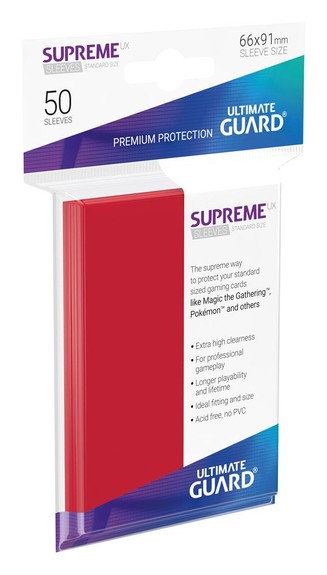 Supreme UX Sleeves (50 Stk) - Standard Size - Rot