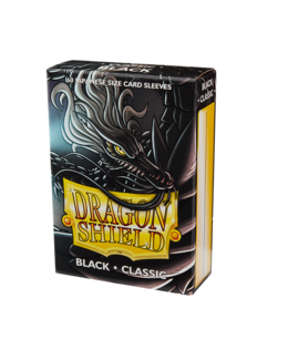 Dragon Shield Sleeves (60 Stk.) - Japanische Kartengröße - Classic Black