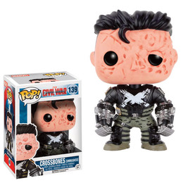 Funko POP! Marvel: Captain America Civil War - Crossbones unmasked