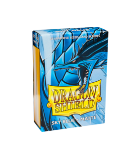 Dragon Shield Sleeves (60 Stk.) - Japanische Kartengröße - Matte Sky Blue