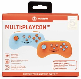 Multi:Playcon Controller Doppelpack Blue & Orange