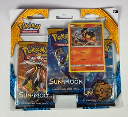 Pokémon Sun & Moon - 3-Pack-Blister: Litten - ENGLISCH